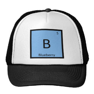 B - Blueberry Fruit Chemistry Periodic Table Cap