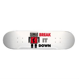 B Boy Boombox Robot Break It Down Skate Deck