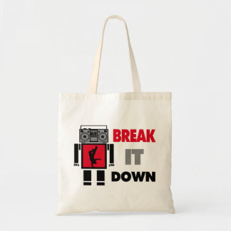 B Boy Boombox Robot Break It Down Tote Bag