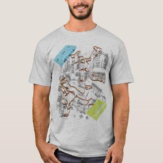 B-boy Cassette Battle (gray) T-Shirt