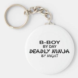 B-Boy Deadly Ninja by Night Basic Round Button Key Ring