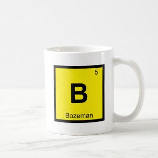 B - Bozeman Montana Chemistry Periodic Table City Basic White Mug