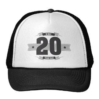 B-day 20 (Dark&Lightgrey) Cap