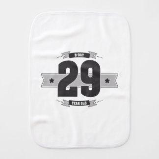 B-day 29 (Dark&Lightgrey) Burp Cloth