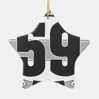 B-day 59 (Dark&Lightgrey) Christmas Ornament