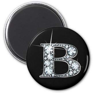 """B"" Diamond Bling Magnet"