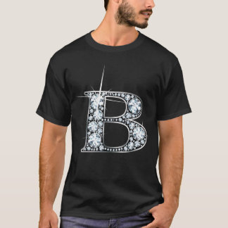 """B"" Diamond Bling T-Shirt"