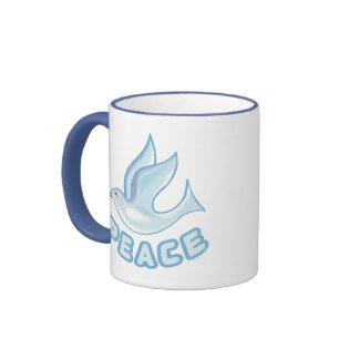 B - Dove of Peace Coffee Mugs