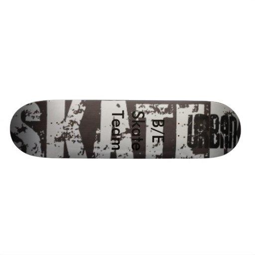 B/E skate team Skateboard Decks