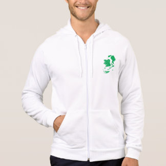 B eire Skate Ireland logo zipped hood Hoodie
