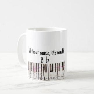 """""""B Flat"""" Music Pun Mug"""