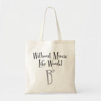 B Flat Tote Bag
