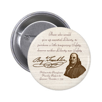 B. Franklin: Liberty & Safety - Button #2