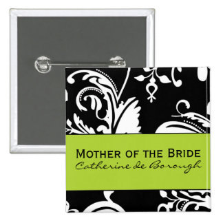 B&G Square Mother of the Bride Button