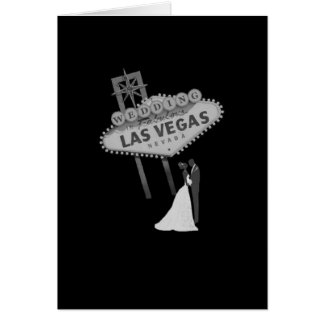 B&G Wedding in Fabulous Las Vegas Card Retro