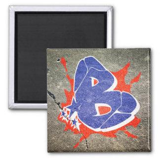 B - Graffiti letter magnet