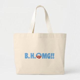 B.H.OMG!! Anti-Obama Large Tote Bag