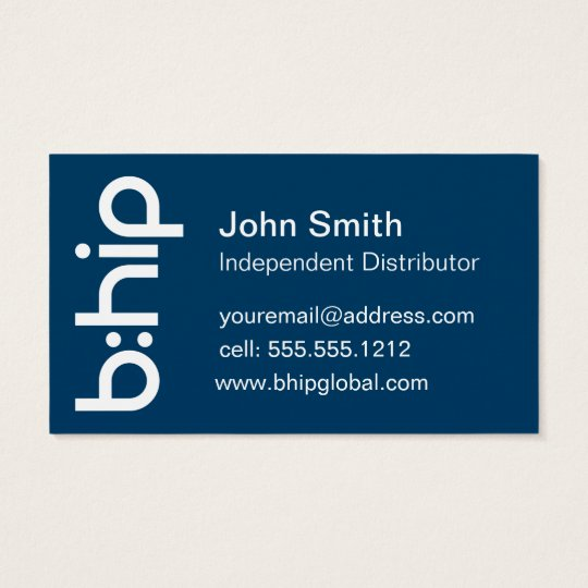 b:HIP Distributor Business Card Blue