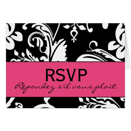 B&HP Contemporary RSVP Card