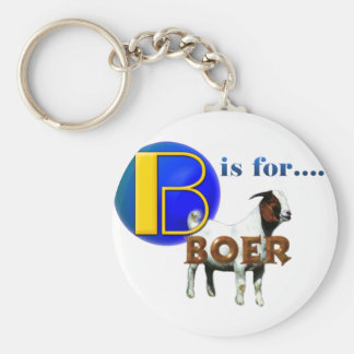 B is Fo rBOER - GOAT GIFTS Basic Round Button Key Ring