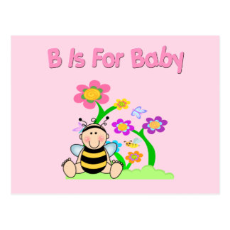 B is For Baby Postcard