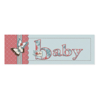 B is for Baby Skinny Gift Tag Pack Of Skinny Business Cards