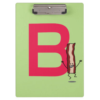 B is for Bacon happy jumping strip abc letter Clipboard