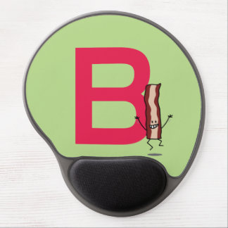 B is for Bacon happy jumping strip abc letter Gel Mouse Mat
