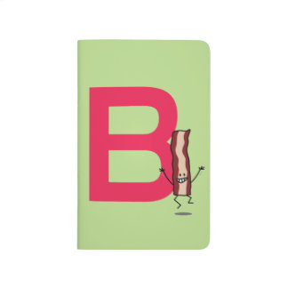 B is for Bacon happy jumping strip abc letter Journal