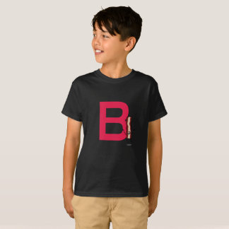 B is for Bacon happy jumping strip abc letter T-Shirt