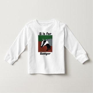B is for badger toddler T-Shirt