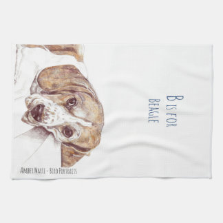 B is for Beagle Tea Towel