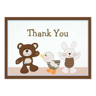 B is for Bear/Teddy Bear Thank You Card 13 Cm X 18 Cm Invitation Card