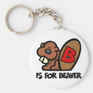 B Is For Beaver Key Ring