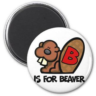 B Is For Beaver Magnet