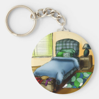 B is for Bedroom Basic Round Button Key Ring