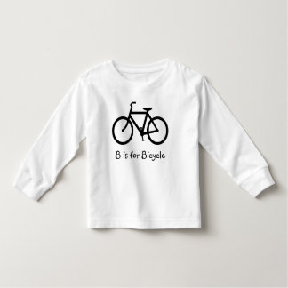 B is for Bicycle Toddler T-Shirt