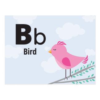 "B is for Bird - Alphabet Flash Card - 5.5 x 4.25"""