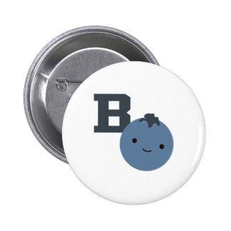 B is for Blueberry 6 Cm Round Badge