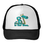 B is for boa constrictor silly snake cartoon cap