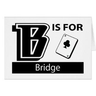 B Is For Bridge Greeting Card