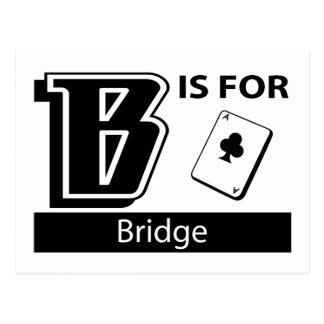 B Is For Bridge Postcard