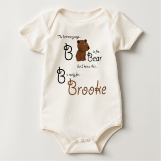 B is for Brooke, Baby Bear Tee