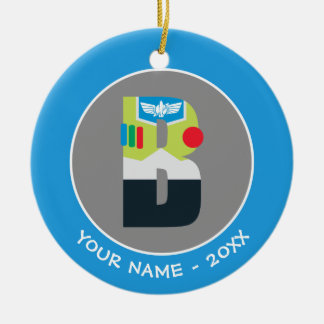 B is for Buzz | Add Your Name Christmas Ornament