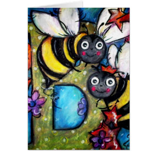 B is for Buzzing Bees Greeting Cards