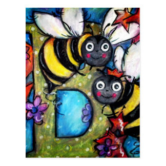 B is for Buzzing Bees Postcard