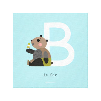 B is for... canvas print