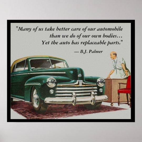 B.J. Palmer Chiropractic Saying Poster Customise