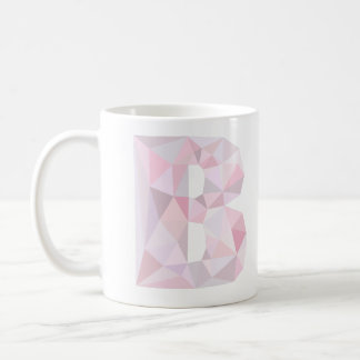 B - Low Poly Triangles - Neutral Pink Purple Gray Basic White Mug