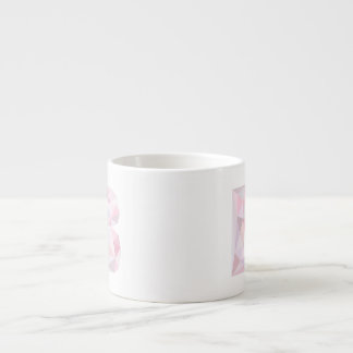 B - Low Poly Triangles - Neutral Pink Purple Gray Espresso Mug